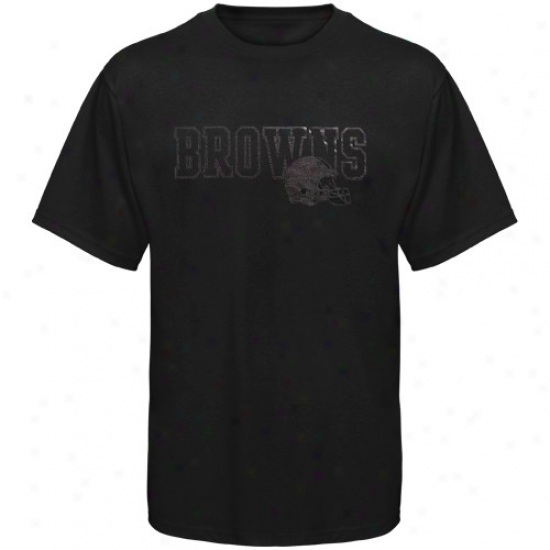 Browns Shirts : Reebok Browns Black Fashion Shirts