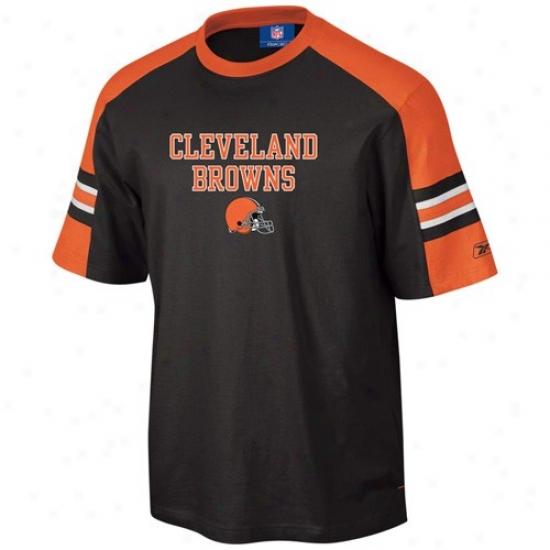 Brown s Shirt : Reebok Browns Brown Touchback T Shirt