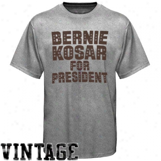Browns Tees : Browns Ash Bernie Kosar For President Vintage Reward Tees