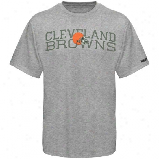 Browns Tshirt : Reebok Browns Youth Ash Foundation Tshirt