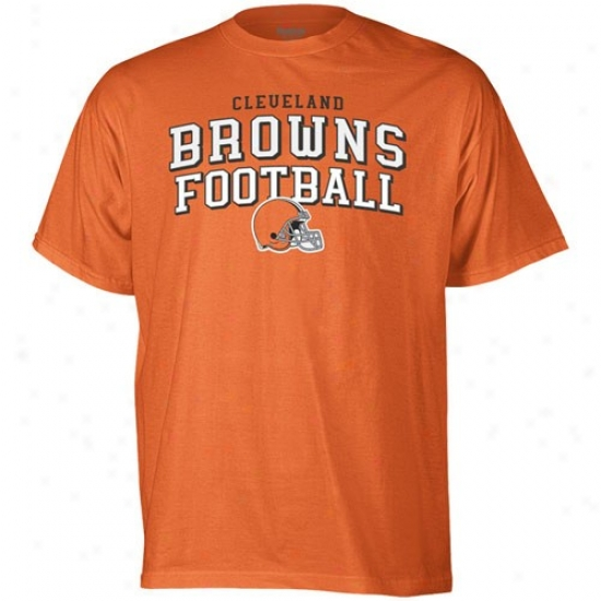 Browns Tshirts : Reebok Browns Orange Top Division Tshirts