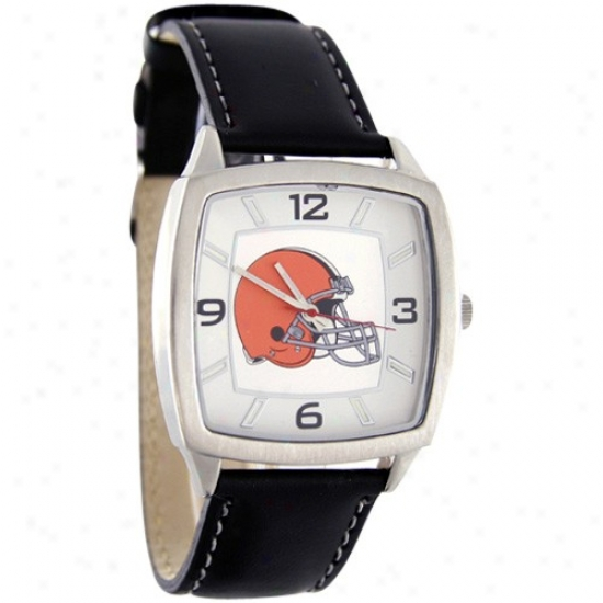 Browns Wrist Watch : Browns Retro Wrist Watch W/ Leather Band