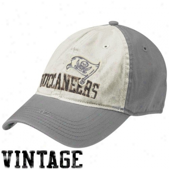 Buccaneers Gear: Reebok Buccaneers Natural-gray Random Vintage Flex Fit Hat