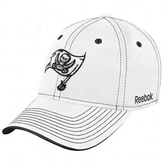Buccaneers Hat : Reebok Buccaneeds White Plough Flex Be suited Hat