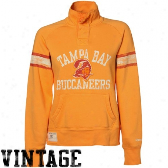 Buccaneers Hoodies : Reebok Buccaneers Ladues Orange Glaze Elegant Hoodies Henley Hoodies