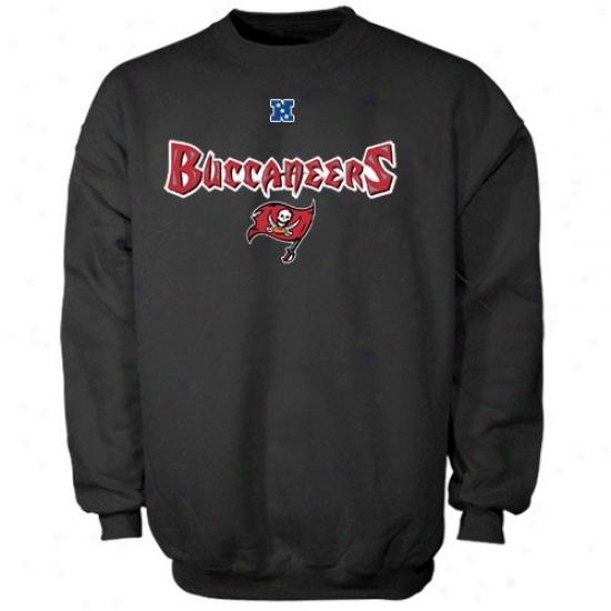 Buccaneers Hoodys : Buccaneeers Black Critical Victoey Iii Crew Hoodys