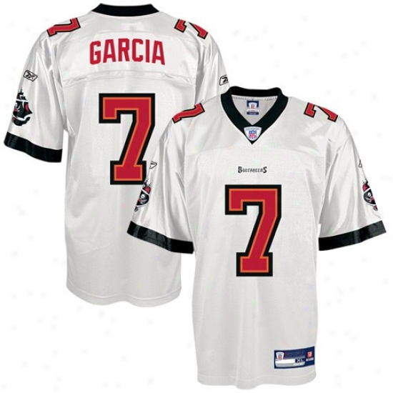 Buccaneers Jersey : Reebok Nfl Equipment Buccaneers #7 Jeff Garia Wuite Replica Football Jersey
