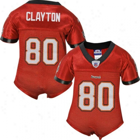 Buccaneers Jersey : Reebok Nfl Equipment Buccaneers #80 Michael Clayton Red Infant One-piece Replica Football Jerrsey
