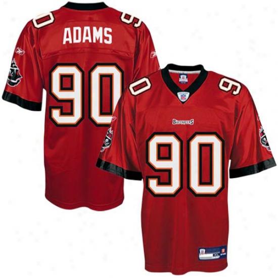Buccaneers Jersey : Reebok Nfl Equipment Buccaneers #99 Gaines Adams Red Youth Replica Football Jersey