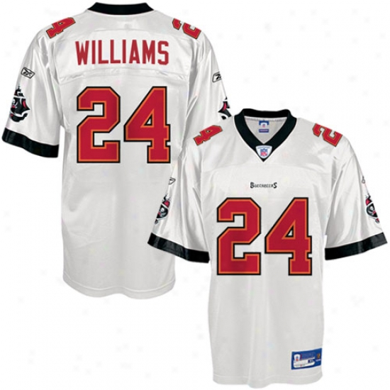 Buccaneers Jersey : Reebok Nfl Equipment Buccaneers #24 Carnell Williams White Repilca Football Jersey