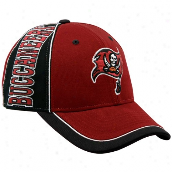 Buccaneers Merchandise: Reebok Buccaneers Red Adjustable Hat