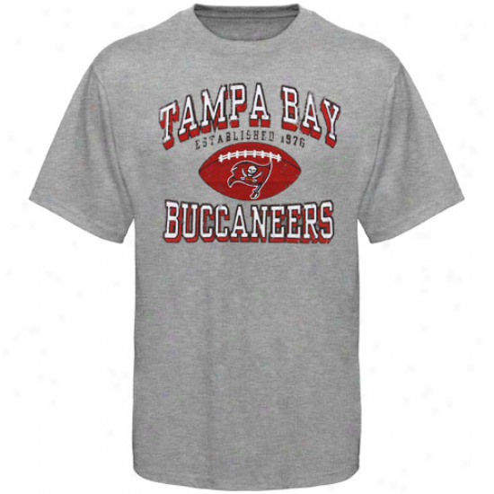 Buccaneers Shirts : Buccaneers Ash Regular Season Tri-blend Shirts
