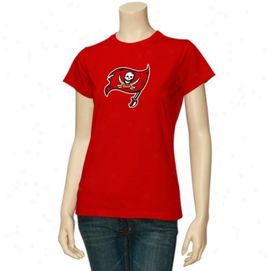 Buccaneers Shirts : Reebok Buccaneers Ladies Red Logo Premier Shirts