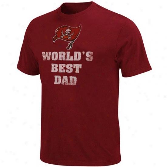 Buccaneers T-shirt : Buccaneers Red World's Best Dad T-shlrt