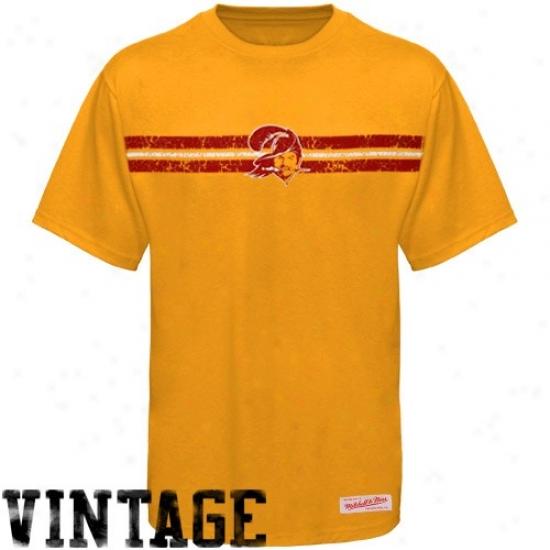Buccaneers Tshirts : Mitchell & Ness Buccaneers Orange Glaze Media Premium Tshirts