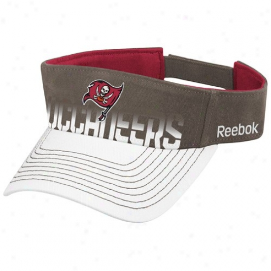 Bucs Caps : Reebok Bucs Pewtwr-white Players Visor