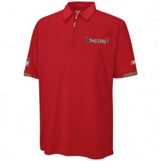 Bucs Clothing: Reebok Bucs Red Cosmic Polo