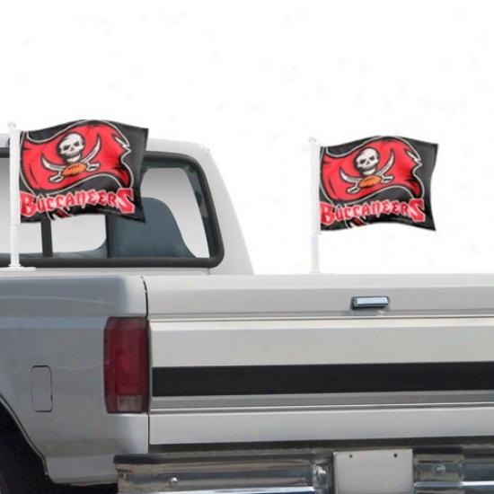 Bucs Flag : Bucs Black 2-pack Team Logo Truck Flag