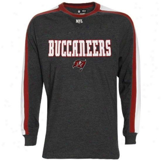 Bucs Shirt : Bucs Charcoal Victory Pride Long Sleeve Shirt