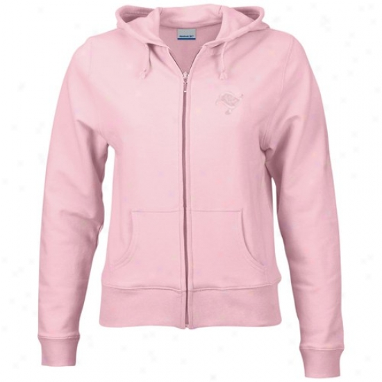 Bucs Sweat Shirt : Reebok Bucs Ladies Pink Full Zip Active Sweat Shirt