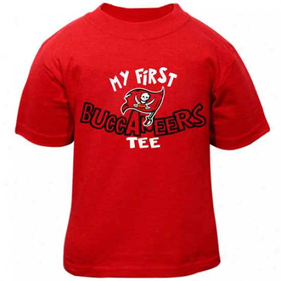 Bucs T-shirt : Reebok Bucs Infant Red My First Buccaneers T-shirt