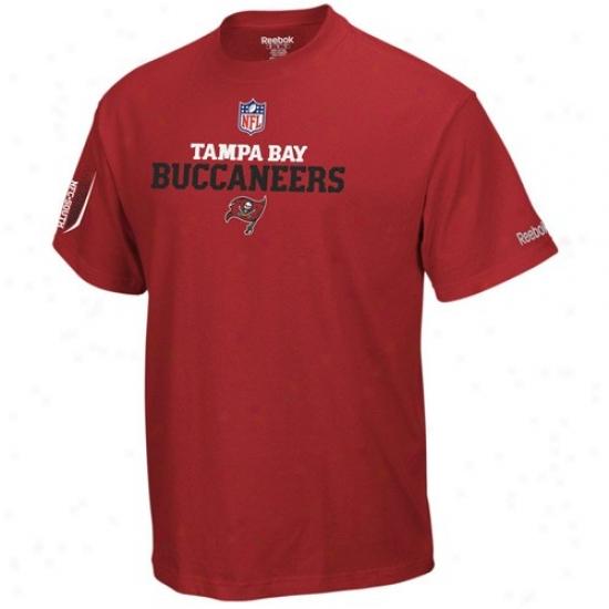 Bucs T-shitr : Reebok Bucs Red Prime T-shirt