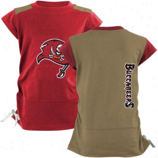 Bucs T Shirt : Reebok Bucs Youth Girls Pewter-rex Harmoby T Shirt