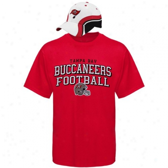 Bucs Tee : Reebok Bucs Red Rivalry Hat & Tee Combo Set