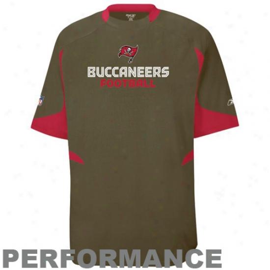 Bucs Tees : Reebok Bucs Pewter Lift Performance Crew Top