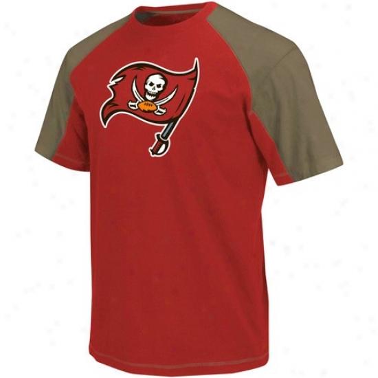 Bucs Tshirts : Bucs Red-pewter Victory Gear Iii Raglan Tshirts
