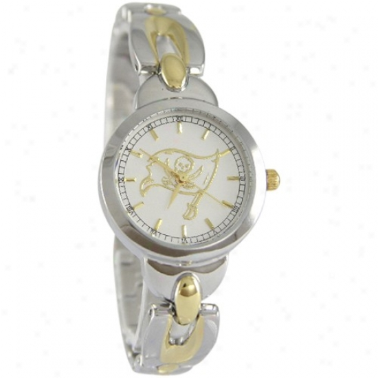 Bucs Wrist Watch : Bucs Ladies Stainless Steel Elegance Wrist Watch