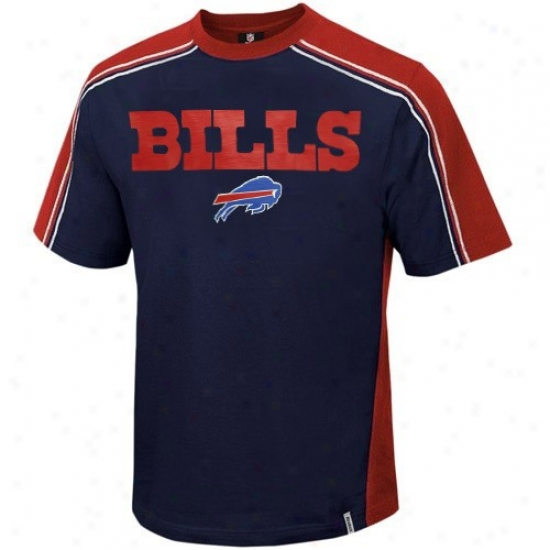 Buffalo Bill Apparel: Reebok Buffalo Bill Navy Blue Upgrade T-shirt