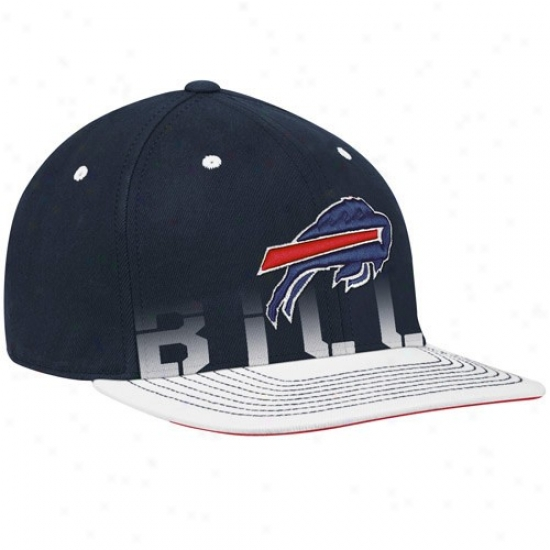 Buffalo Biil Hat : Reebok Buffalo Bill Youth Navy Livid Pro Shape Player Sidelije Flex Hat