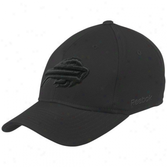 Buffalo Bill Hats : Reebok Buffalo Bill Black Tewm Logo Structured Flex Fit Hats