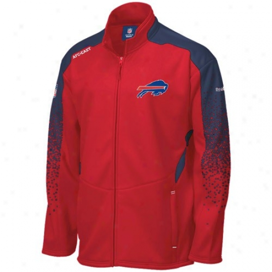 Buffalo Bill Hoody : Reebok Buffalo Bill Red Summit Drift Full Zip Jacket