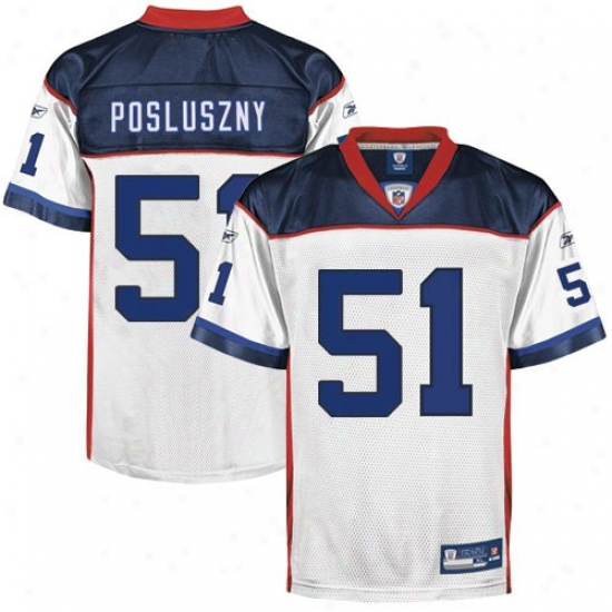 ... Buffalo Bill Jersey Reebok Nfl Equipment Buffalo Bill 51 Paul Posluszny  Whtie Replica Jersey ... 979b5d5b3