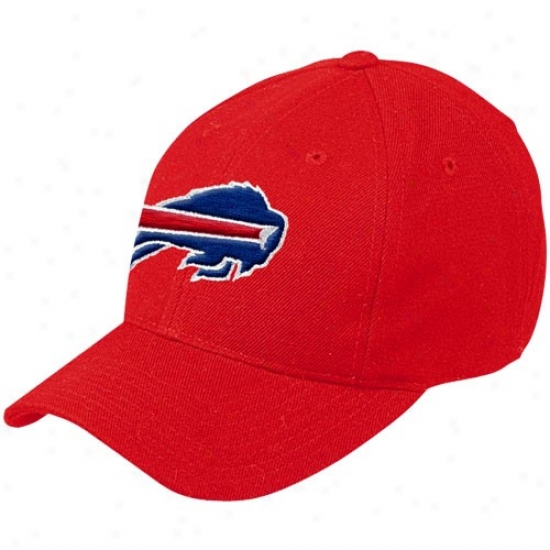 Buffalo Bill Merchandise: Reebok Buffalo Bill Red Basic Llgo On Field Hat