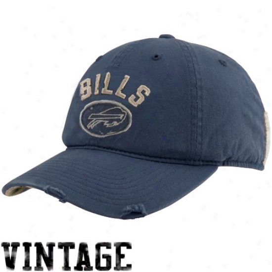 Buffalo Bill Merchandise: Reeboi Buffalo Bill Navy Blue Vintage Adjustable Slouch Hat