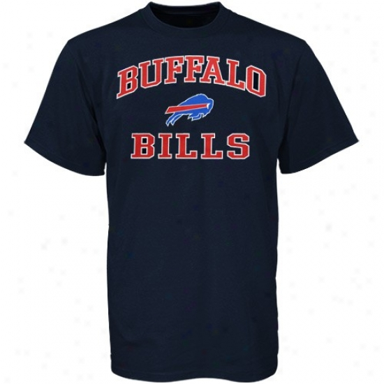 Buffalo Bill T Shirt : Buffalo Bill Navy Blue Heart And Soul T Shirt
