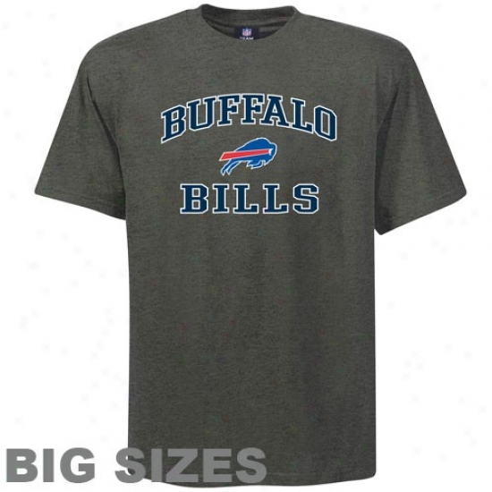 Buffalo Bill Tees : Buffalo Bill Charcoal Haert And Soul Big Sizes Tees
