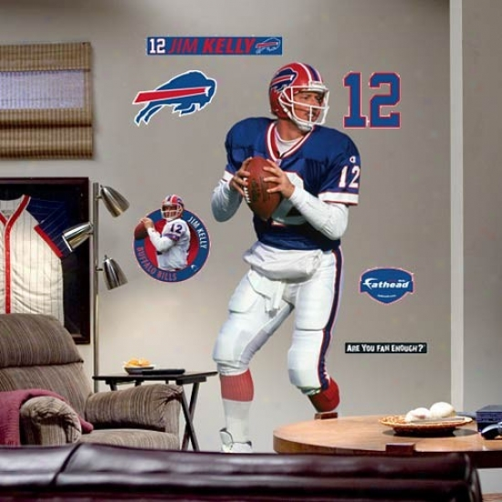 Buffalo Bills #12 Jim Kelly Player Fathead
