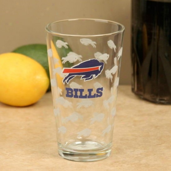 Buffalo Bills 16oz. Satin Etch Pint Glass