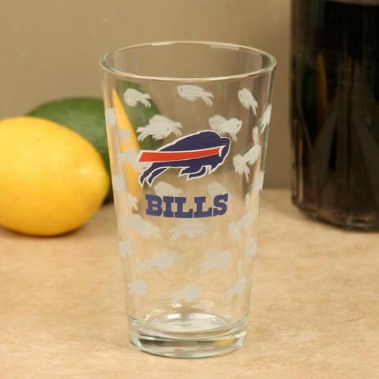 Buffalo Bills 16oz. Satin Etch Pint Glass