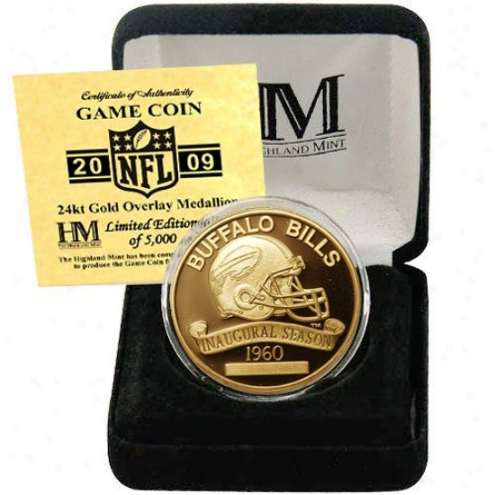 Buffalo Bills 2009 Inaugural Season 24kt Gold Commemorative Coin