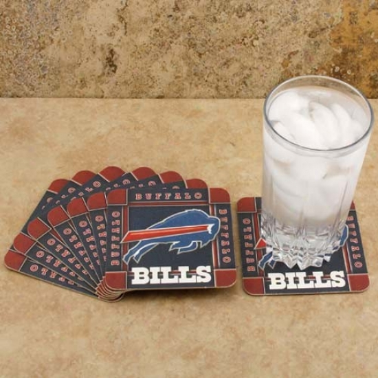 Buffalo Bills 8-pack Absorbent Paperkraft Coasters