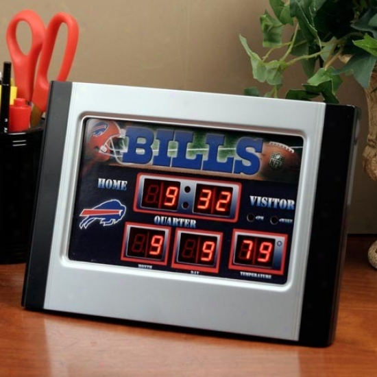 Buffalo Bills Alarm Scoreboard Clock