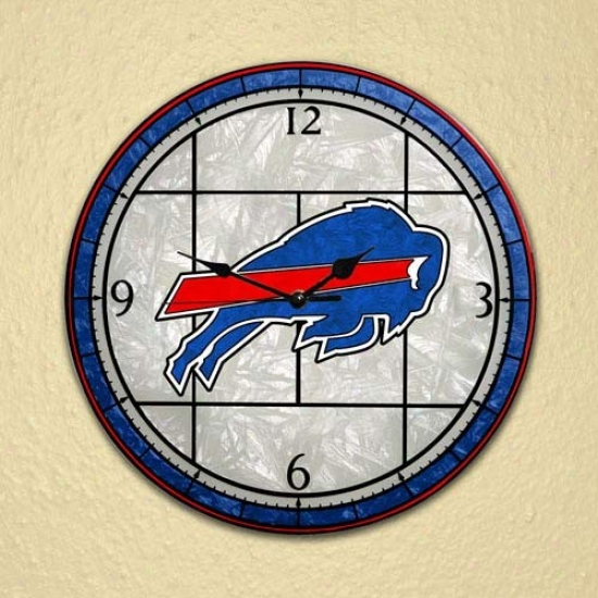 Buffalo Bills Art-glass Clock