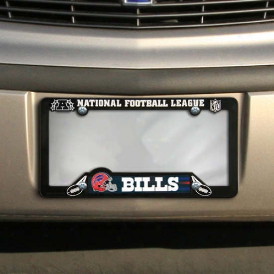Buffalo Bills Black Plastic License Plate Frame