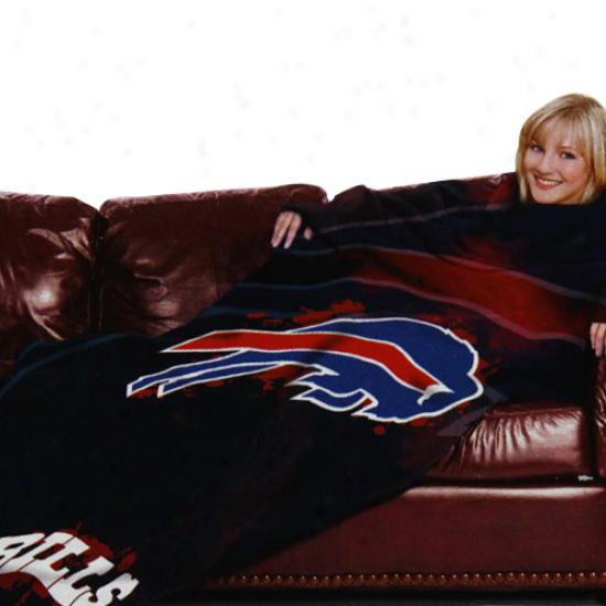 Buffalo Bills Black Team Logo Print Unisex Comfy Throw
