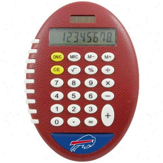 Buffalo Bills Brownn Football Pro-grip Calculator